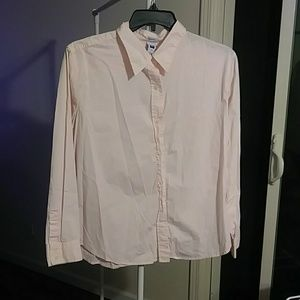 Soft pink long sleeve top Size XXL